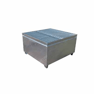MH30000 - Single IBC Bunded Metal Pallet