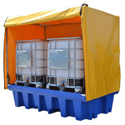 MH30117 - PVC Cover and Galvanised Frame for Double IBC