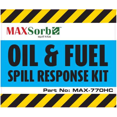 Oil and Fuel Spill Kit Label 770L - WS06200L