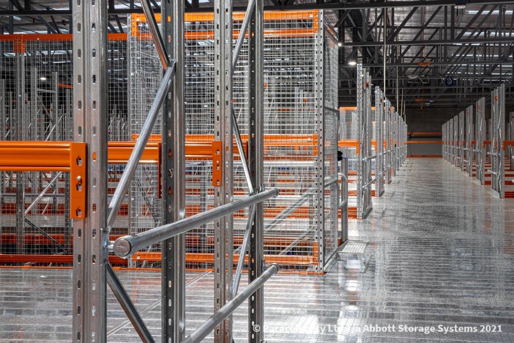 Raised Storage Area Rail & Mesh Enclosure