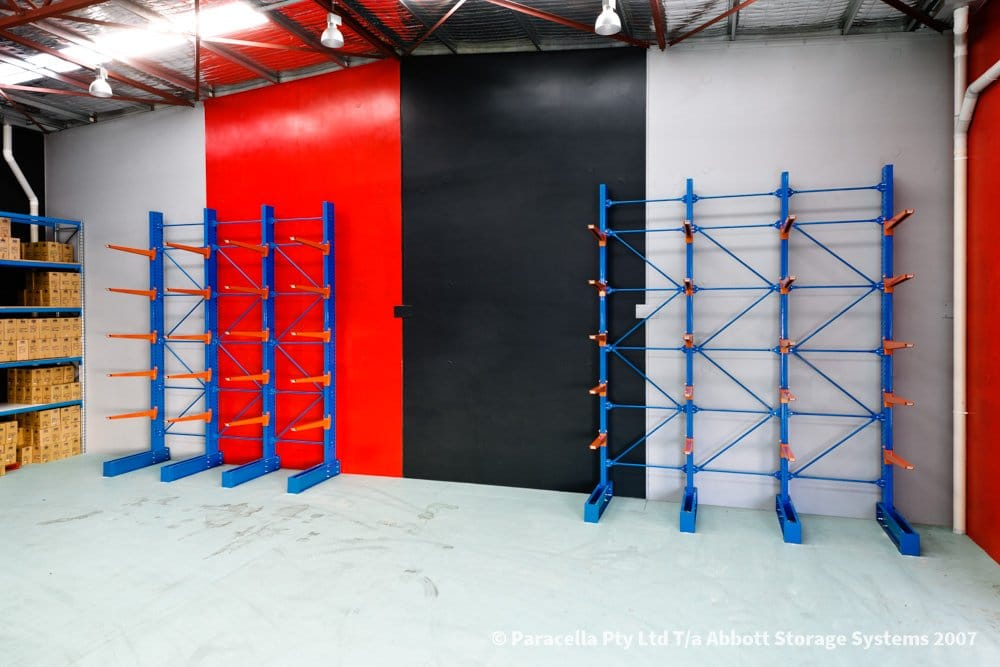 ABC Blinds - Heavy Duty Cantilever Racking Fitout
