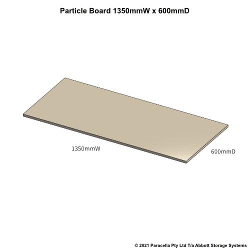 PR45610 - 18mm Shelf Board 1350mmW x 600mmD - Dimensions