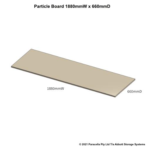 PR45630 - 18mm Shelf Board 1800mmW x 600mmD - Dimensions