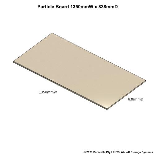 PR45690 - 18mm Shelf Board 1350mmW x 838mmD - Dimensions