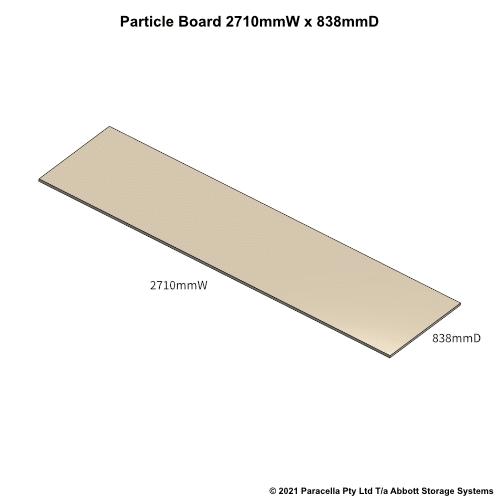 PR45750 - 18mm Shelf Board 2710mmW x 838mmD - Dimensions