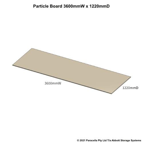PR45760 - 18mm Shelf Board 3600mmW x 1220mmD - Dimensions