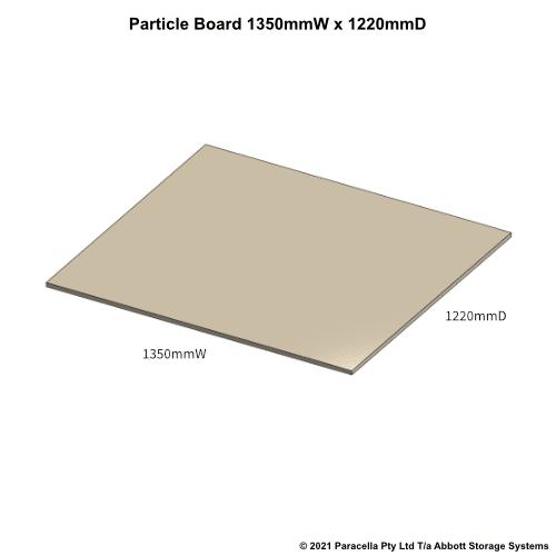 PR45770 - 18mm Shelf Board 1350mmW x 1220mmD - Dimensions