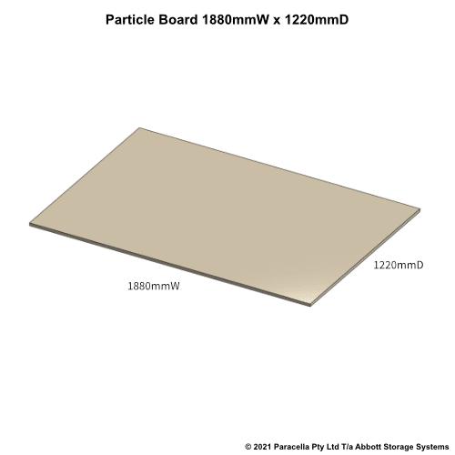 PR45790 - 18mm Shelf Board 1800mmW x 1220mmD - Dimensions