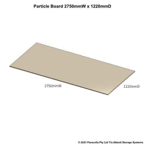 PR45810 - 18mm Shelf Board 2570mmW x 1220mmD - Dimensions