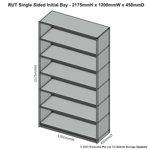 RU43331S - RUT 2175H 1200W 450D Single Sided Initial Bay - Dimensions