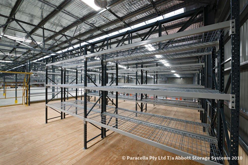 TNT Australia - Warehouse Storage Solution - Open Span Shelving with Mesh Decks