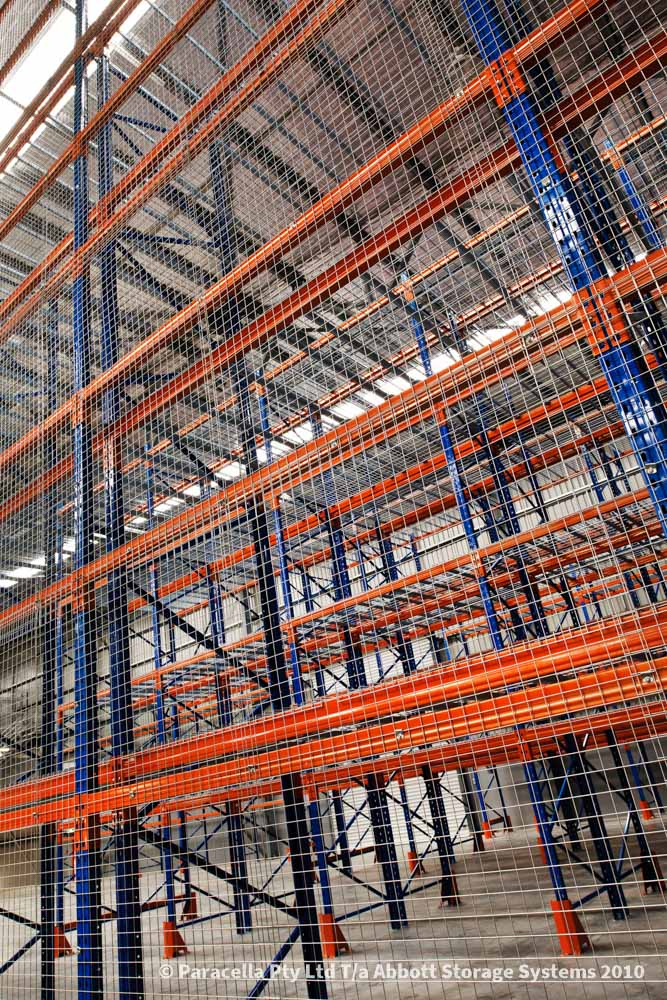 TNT Australia - Warehouse Storage Solution - Selective Pallet Racking with Mesh Decking & Backing