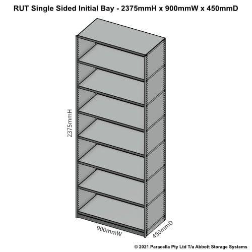 RU45321S - RUT 2375H x 900W x 450D Single Sided Initial Bay - Dimensions