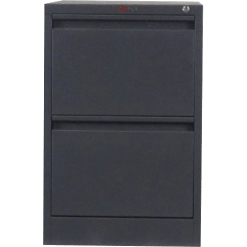 CB2501BK - Filing Cabinet 2 Drawer 720H x 470W x 620D Black