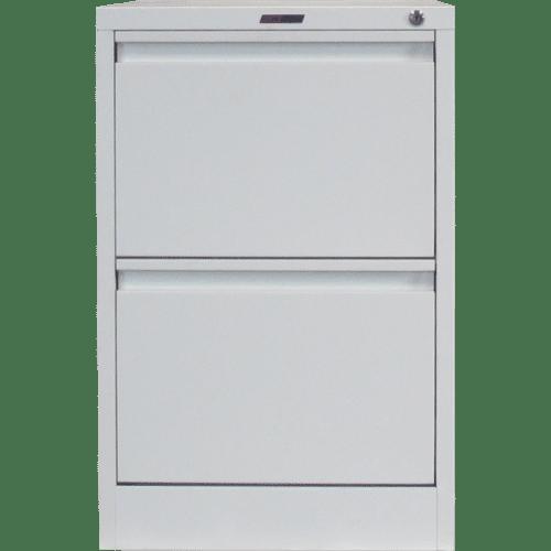 CB2501PW - Filing Cabinet 2 Drawer 720H x 470W x 620D Pearl White