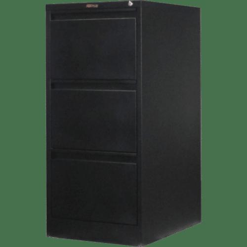 CB2506BK - Filing Cabinet 3 Drawer 1020H x 470W x 620D Black