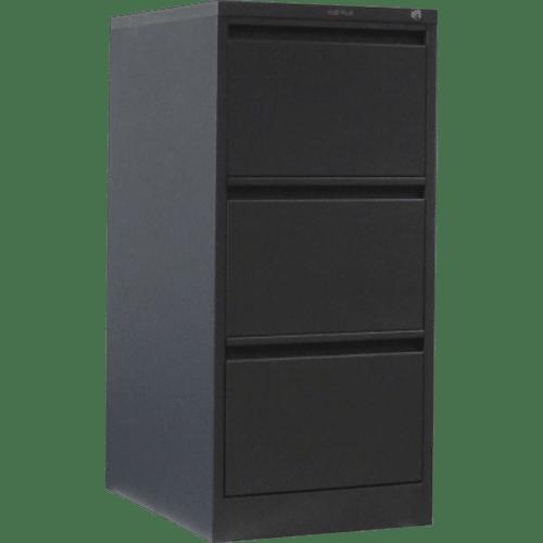 CB2506GR - Filing Cabinet 3 Drawer 1020H x 470W x 620D Graphite Ripple