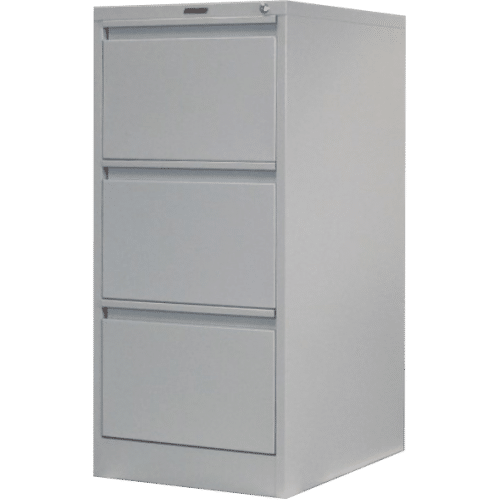 CB2506GY - Filing Cabinet 3 Drawer 1020H x 470W x 620D Grey
