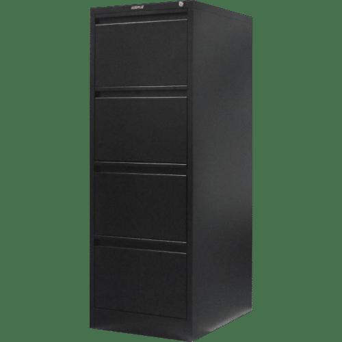 CB2511BK - Filing Cabinet 4 Drawer 1320H x 470W x 620D Black