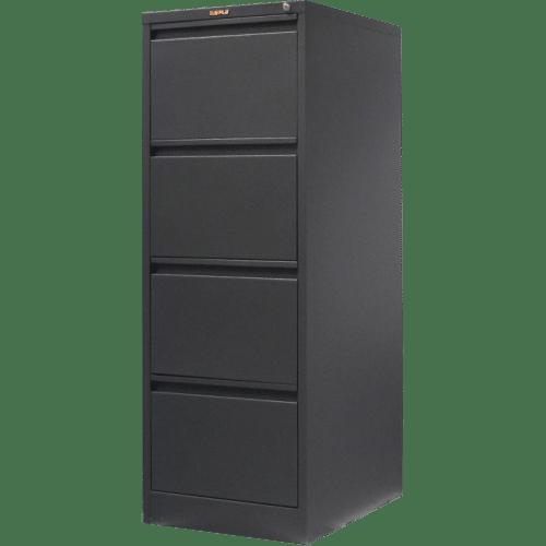 CB2511GR - Filing Cabinet 4 Drawer 1320H x 470W x 620D Graphite Ripple