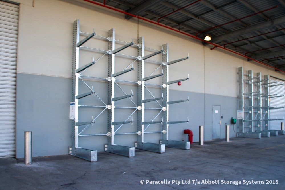 Hot Dipped Galvanised Cantilever Racking