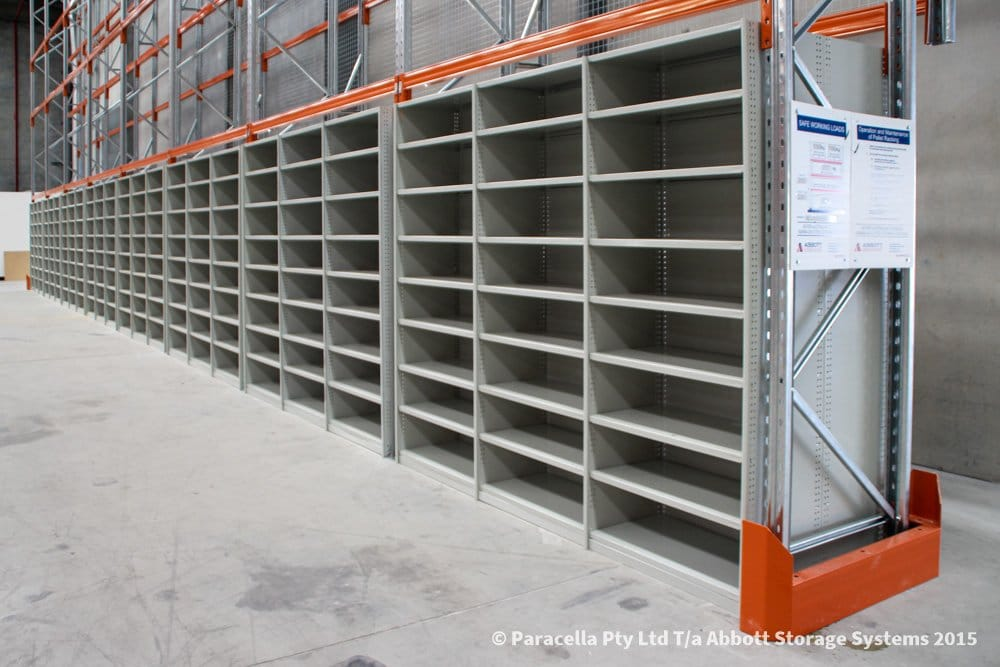 Rolled Upright Shelving with Selective Pallet Racking