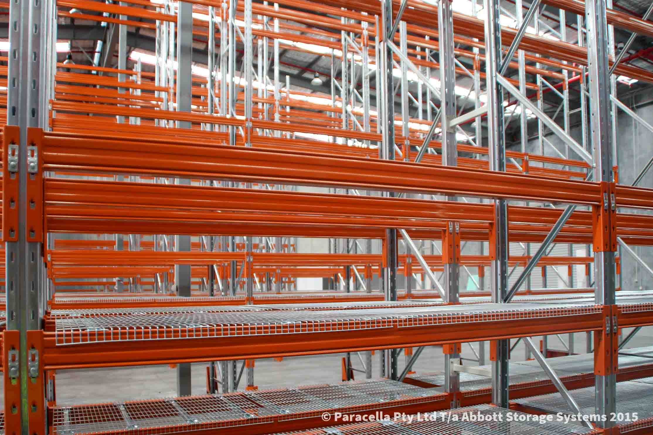 Tradelink - Selective Pallet Racking with Mesh Decking